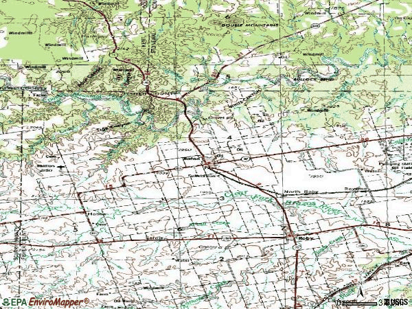 Zip code 79546 topographic map
