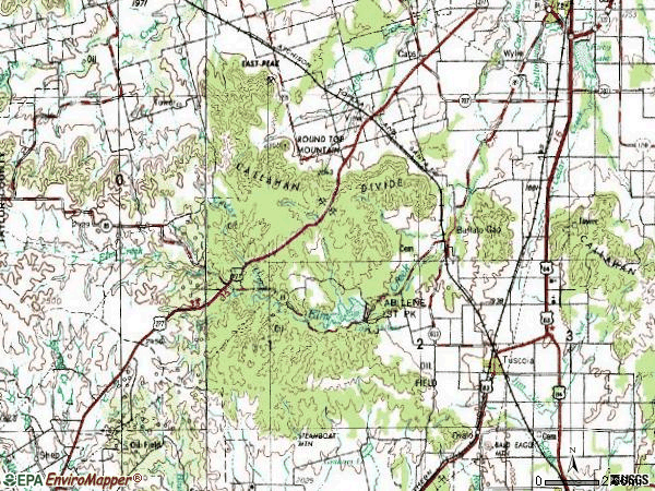 Zip code 79562 topographic map