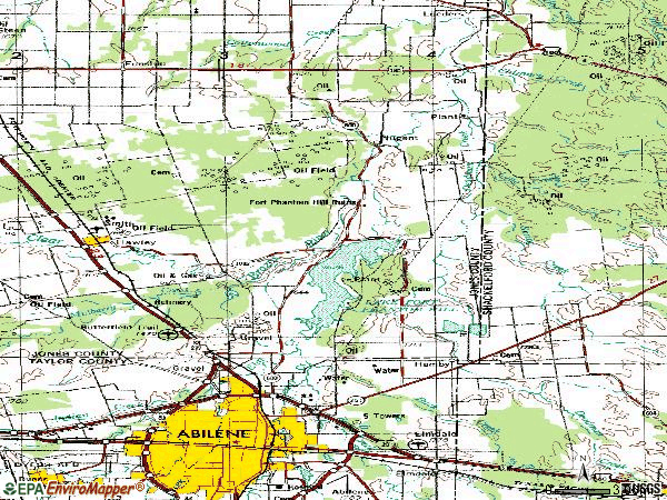 Zip code 79601 topographic map