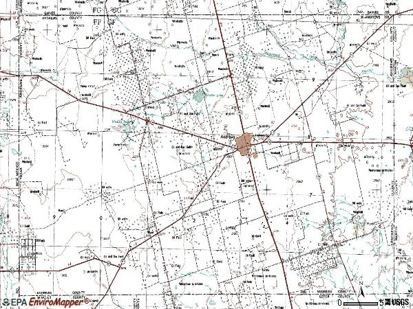 Zip code 79714 topographic map