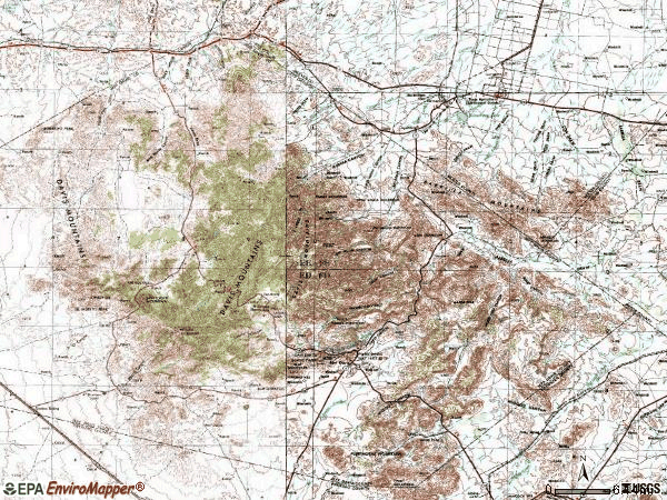 Zip code 79734 topographic map