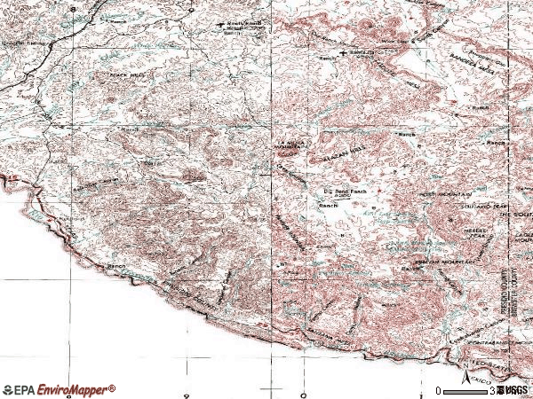 Zip code 79846 topographic map