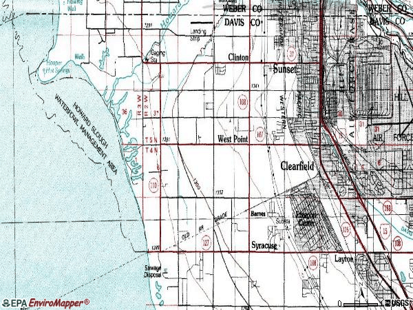 Zip code 84015 topographic map