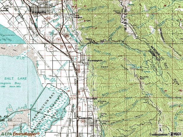 Zip code 84025 topographic map