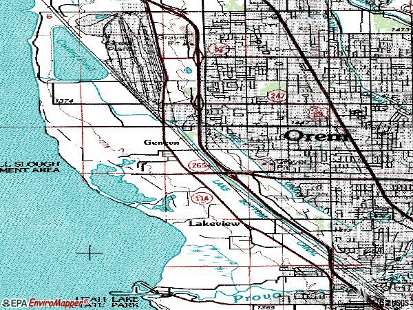Zip code 84058 topographic map
