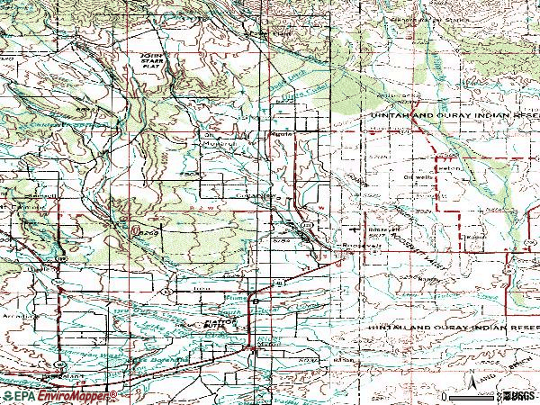Zip code 84066 topographic map