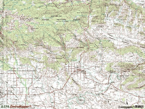 Zip code 84078 topographic map