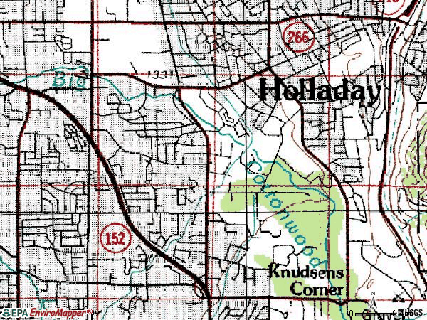 Zip code 84117 topographic map