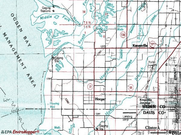 Zip code 84315 topographic map