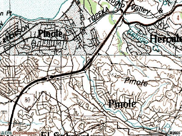 Zip code 94564 topographic map