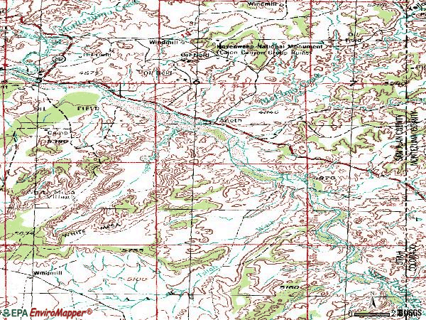 Zip code 84510 topographic map