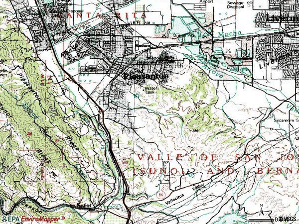 Zip code 94566 topographic map