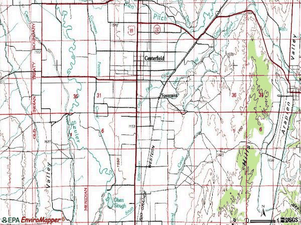 Zip code 84622 topographic map
