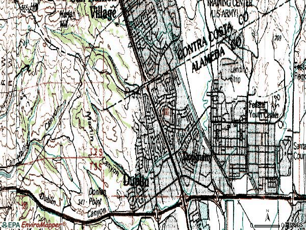 Zip code 94568 topographic map