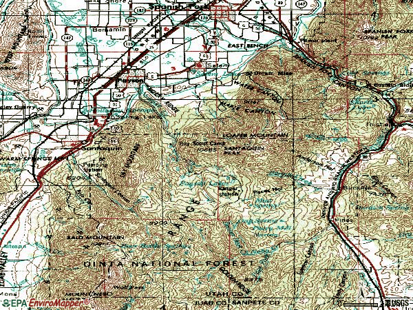Zip code 84651 topographic map