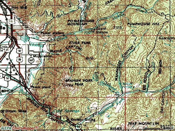 Zip code 84664 topographic map