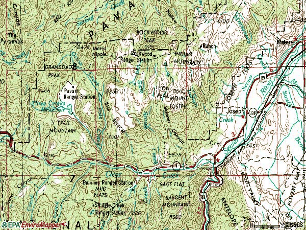 Zip code 84739 topographic map