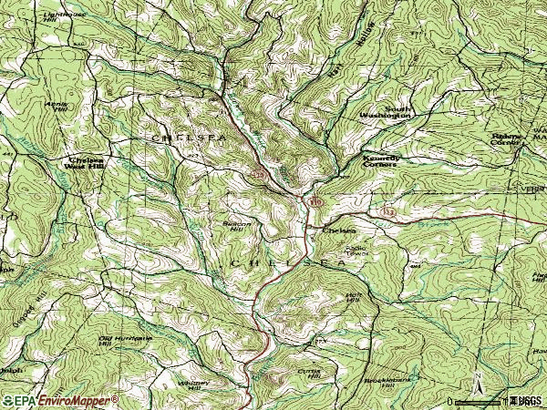 Zip code 05038 topographic map