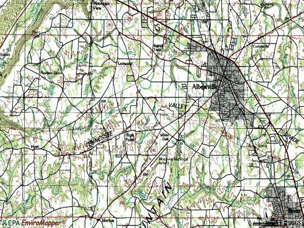 Zip code 35950 topographic map