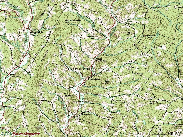 Zip code 05077 topographic map