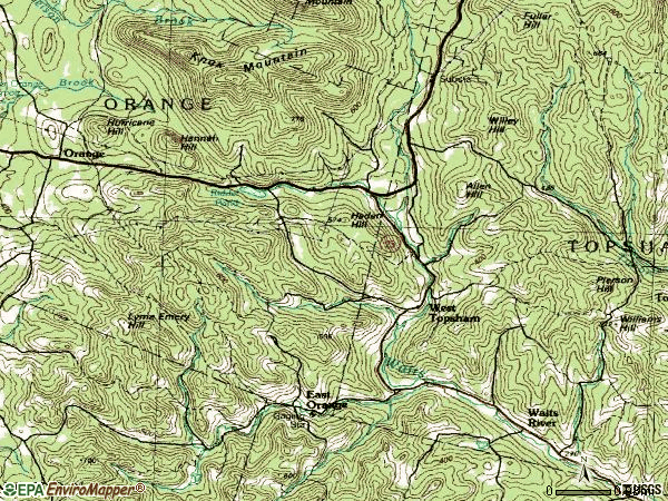 Zip code 05086 topographic map
