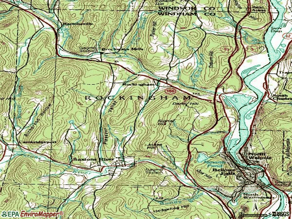 Zip code 05101 topographic map