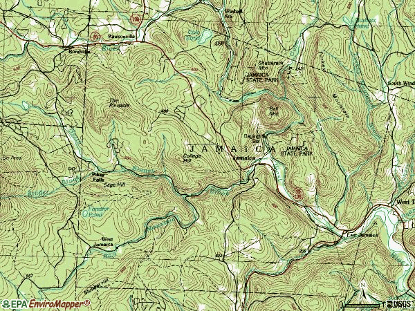 Zip code 05343 topographic map