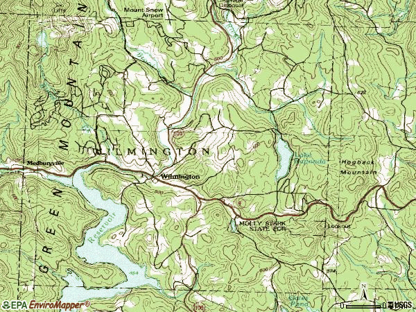 Zip code 05363 topographic map