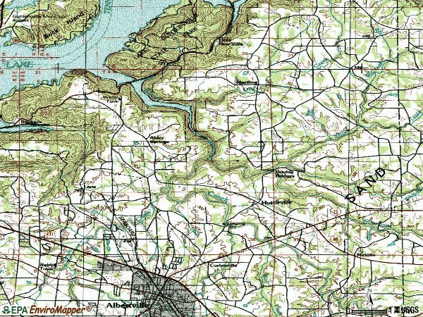 Zip code 35951 topographic map