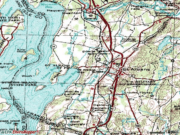 Zip code 05478 topographic map