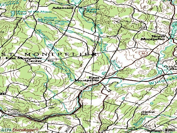 Zip code 05651 topographic map