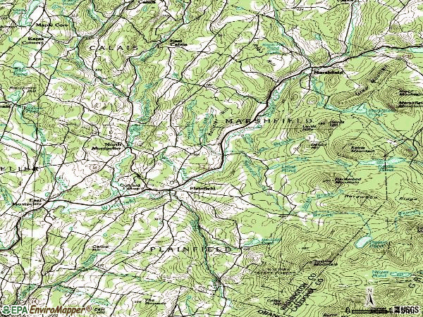 Zip code 05667 topographic map