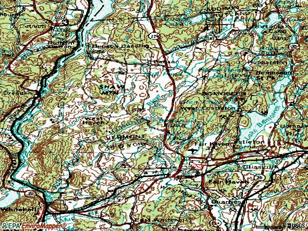 Zip code 05743 topographic map