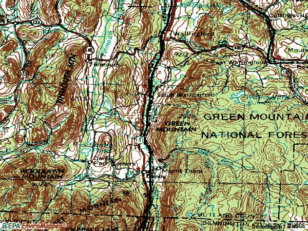 Zip code 05773 topographic map