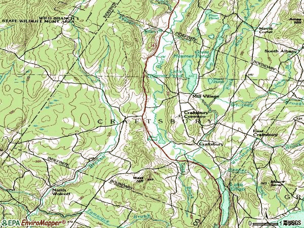 Zip code 05826 topographic map