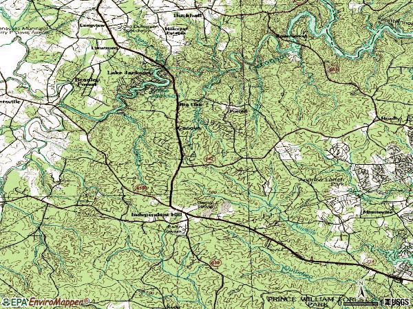 Zip code 20112 topographic map