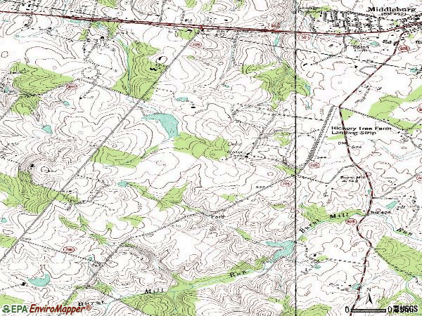 Zip code 20118 topographic map