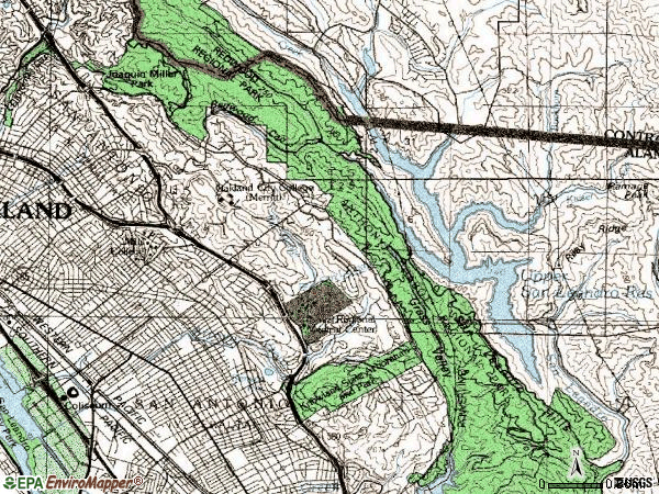 Zip code 94619 topographic map