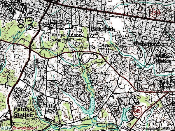 Zip code 22032 topographic map