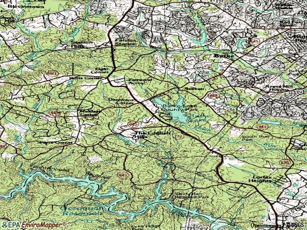 Zip code 22039 topographic map