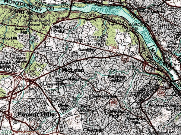 Zip code 22101 topographic map