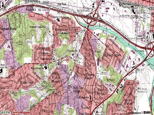 Zip code 22303 topographic map