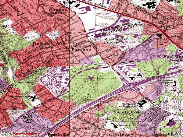 Zip code 22311 topographic map