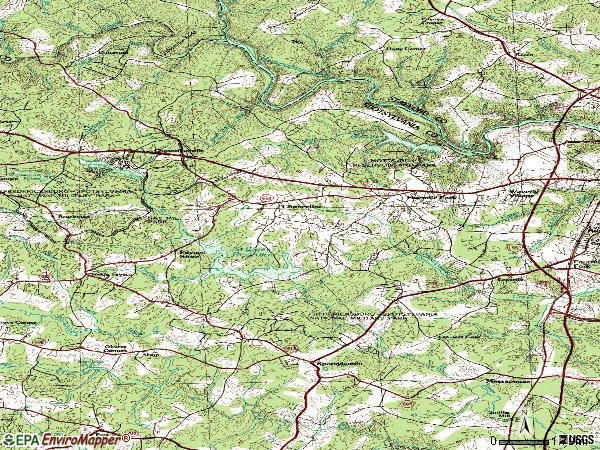 Zip code 22407 topographic map
