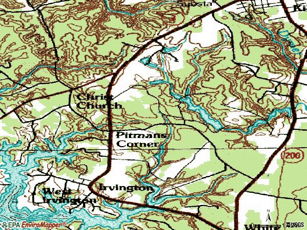 Zip code 22482 topographic map