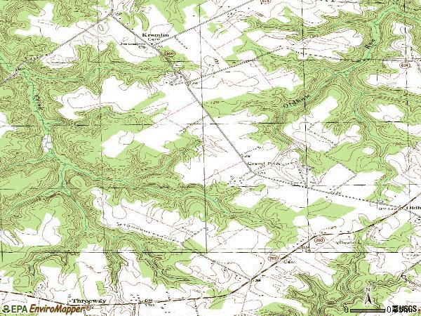 Zip code 22529 topographic map