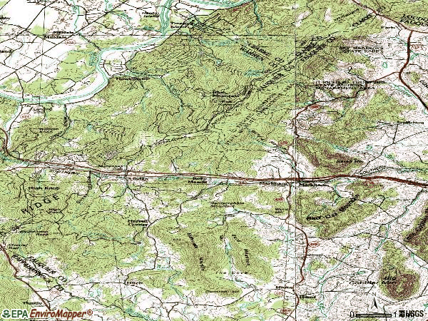Zip code 22642 topographic map