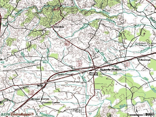 Zip code 22714 topographic map