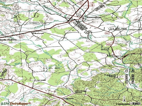 Zip code 22718 topographic map