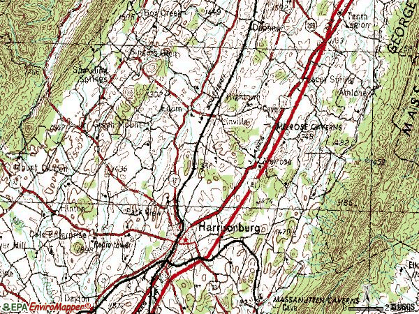 Zip code 22802 topographic map